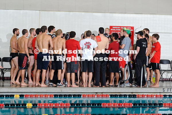 28 January 2012:  Davidson College hosted swimming and diving at Charles A. Cannon Pool in Davidson, North Carolina.