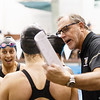 Oakland University swimming and diving on day 1 of the Horizon League conference championships in Cleveland, OH on February 21, 2018.