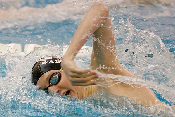 Boys sectional swim prelims