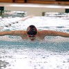 Goshen junior Nick Zehr competes in the 200-yard individual medley during the NLC championship finals Saturday at Northridge.