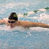Northridge junior Tristin Bratt wins the 200-yard individual medley race during the NLC championship finals Saturday at Northridge High School in Middlebury.