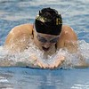 Northridge senior Anna Yeater won the 100-yard breaststroke race at the NLC girls swimming championships Saturday at Concord High School in Dunlap. Northridge's performance in the breaststroke helped them win a sixth-staight conference championship.