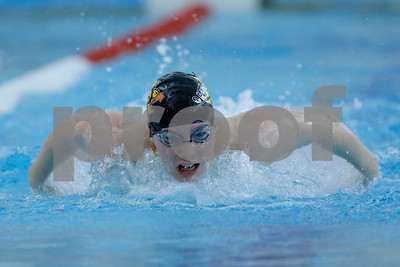Avon's Victoria Wendt powers her way to winning the 200 yard IM with a time of 2:14:31 during the swim meet between Avon and Plainfield at Plainfield  High School in Plainfield,IN. (Jeff Brown/Flyer Photo)