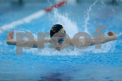 Avon's Lauren Myers won the 100 yard Butterfly with a time of 1:01:35 during the swim meet between Avon and Plainfield at Plainfield  High School in Plainfield,IN. (Jeff Brown/Flyer Photo)