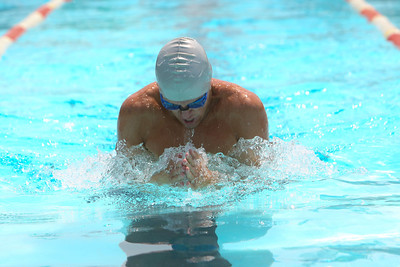 Alliance's Broc Anderson swims the breast stroke in the boys 15 - 18 year old of the 100 yard Individual medley on Saturday, in Bridgeport. The summer competition from five competing city's in the BRATS League (Bridgeport, Rushville, Alliance, Torrington and Sidney). Anderson finished first with a time of 1:12.63 to also smash the meet record of Torrington's Noah Strong's 1:17.92.