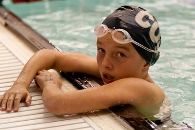 Caroline survives the 500 freestyle.