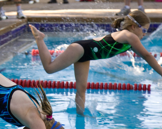 Yes, you can walk on water - if you are on the Country Club team - for a while, at least. Northcrest swim meet at Country Club