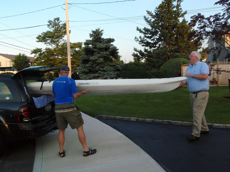 Loading a Kayak for training swim