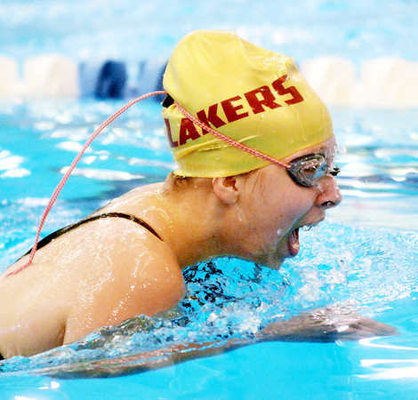 WARREN  DILLAWAY | Star Beacon <br /> Pymatuning Valley's Maggie Hochran competes in the 200 Yard Individual Medley on Friday afternoon during Division II sectionals at Spire Institute in Harpersfield Township.