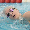 WARREN  DILLAWAY | Star Beacon <br /> Geneva's Angelina Brown swims the 200 Yard IM on Friday at the district swim meet at Spire institute in Harpersfield Township.