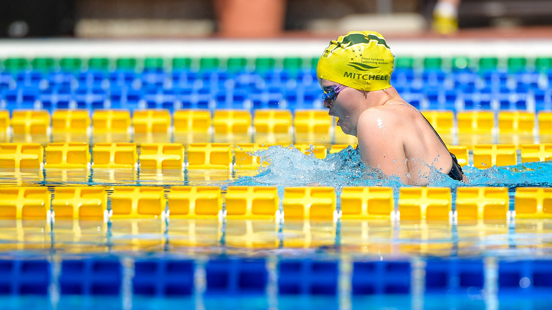 Phoebe Mitchell Of Australia During Morning Breaststroke Heats On Day 3 Of  The 8th Down Syndrome