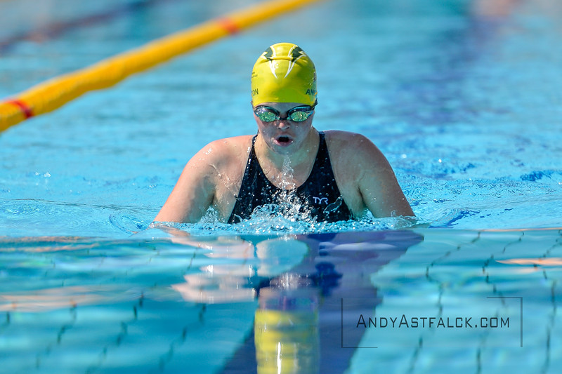 Taylor Anderton of Australia during morning Breaststroke Heats on Day 3 of the 8th Down Syndrome World Swimming Championships held in Florence Italy on July 20 2016.<br /> <br /> Andy Astfalck