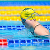 Aliesha Sneesby of Australia during morning Breaststroke Heats on Day 3 of 8th Down Syndrome World Swimming Championships held in Florence Italy on July 20 2016.