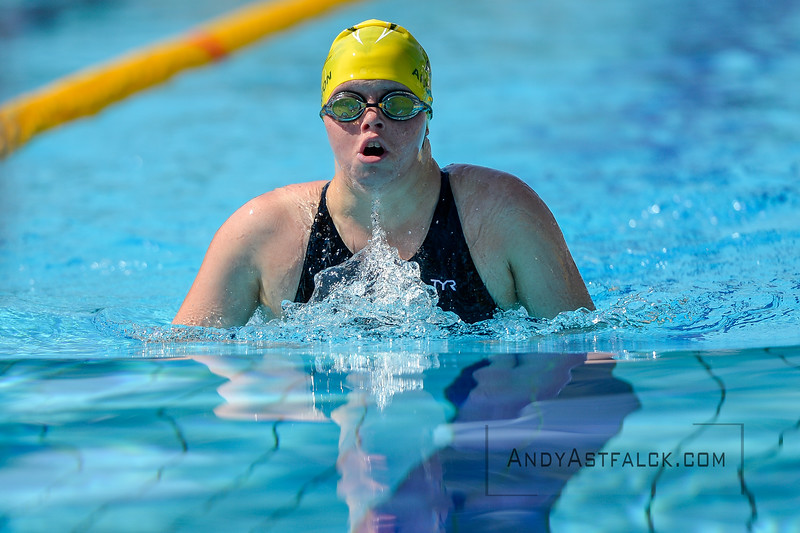 Taylor Anderton of Australia during morning Breaststroke Heats on Day 3 of the 8th Down Syndrome World Swimming Championships held in Florence Italy on July 20 2016.  Andy Astfalck