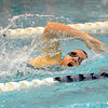 Nashoba's Katie Crowley swims in Friday's meet against Leominster.<br /> SENTINEL & ENTERPRISE / BRETT CRAWFORD