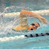 Nashoba's Katie Crowley swims in Friday's meet against Leominster.<br /> SENTINEL & ENTERPRISE / BRETT CRAWFORD