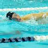 Nashoba's Spencer Dansereau swims in Friday's meet against Leominster.<br /> SENTINEL & ENTERPRISE / BRETT CRAWFORD