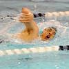 Nashoba's Steven Jiang swims in Friday's meet against Leominster.<br /> SENTINEL & ENTERPRISE / BRETT CRAWFORD