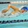 Leominster's Alexis Regopoulos swims in Friday's meet against Nashoba.<br /> SENTINEL & ENTERPRISE / BRETT CRAWFORD