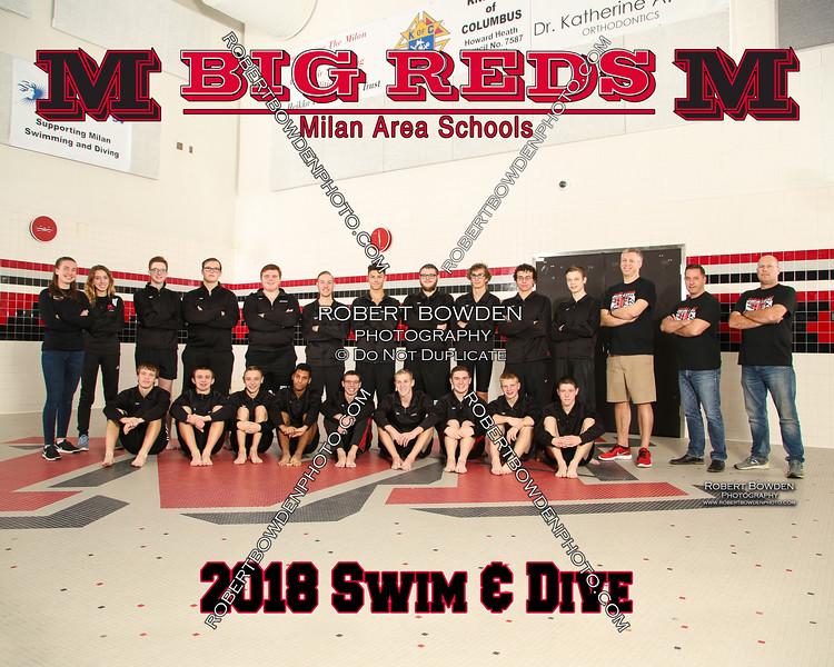 Milan 8x10 Varsity Men Swim and Dive 2018
