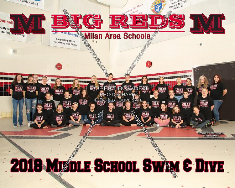 Milan 8x10 Middle School Men Swim and Dive 2018
