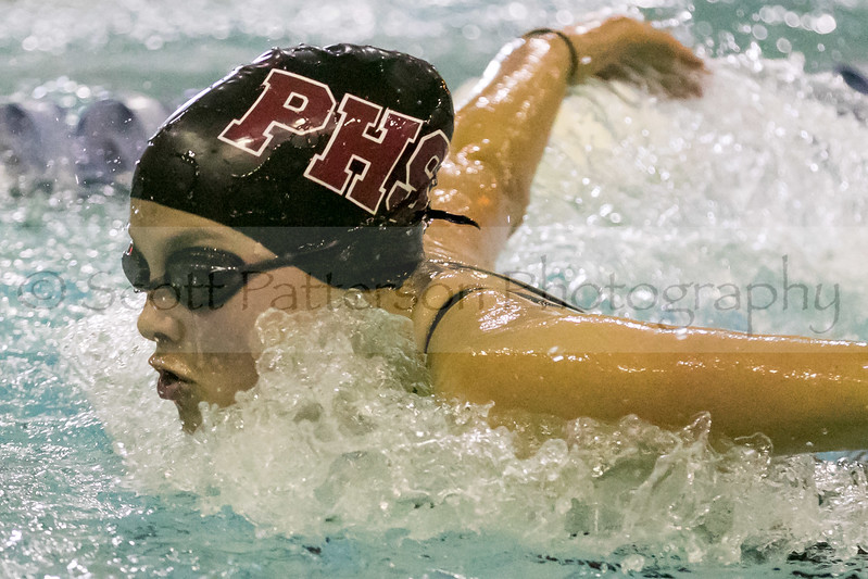 Portsmouth's Trinity Zola competes in the Girls 200 Yard IM during the Holiday Invitational Swim Meet in Durham Friday. Scott Patterson/Fosters.com