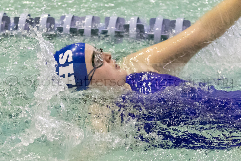Merrimack's Kimberly Ortega competes in the Girls 200 Yard IM during the Holiday Invitational Swim Meet in Durham Friday. Scott Patterson/Fosters.com