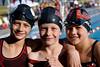 Three swimming friends