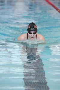 Gering's Baily Kreider girls 100 yard breaststroke
