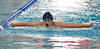 Jimmy Yoder swims the butterfly stroke during Sunday's Men's 11-12 200 LC Meter Butterfly during the Stu Hixon Invite at the Mountain View Aquatic Center..