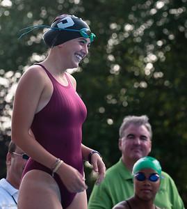 Carlie accept congrats on her last swim meet for TRCC 2010
