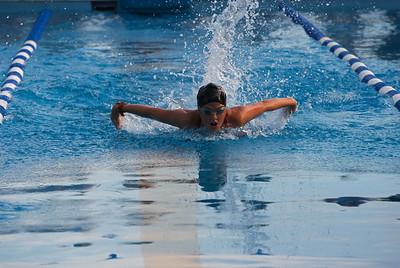 Carlie swimming the 100 IM at TRCC 2008