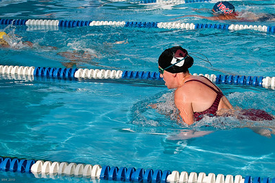 Carlie swimming breaststroke at TRCC Swim Meet 2010
