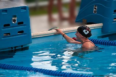 Carlie finishes swim event during TRCC swim meet 2010