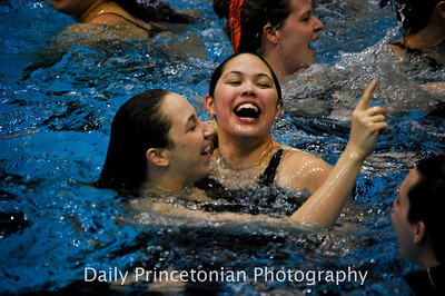 Princeton's Women's Swimming and Diving celebrates after winning the 2012 Ivy League title. (Taken for the Daily Princetonian -  http://photo.dailyprincetonian.com/Sports/WSWIM/IvyLeagueChampionships/16034241_w6nGrd#!)