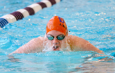 Danville Joe Malafronte does the breaststroke during Tuesday's meet against Lewisburg.