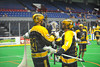 Syracuse Stingers hosted the Vermont Voyageurs in Professional Box Lacrosse at the War Memorial Arena in Syracuse, New York on Sunday, April 13, 2014. Vermont won 19-12.