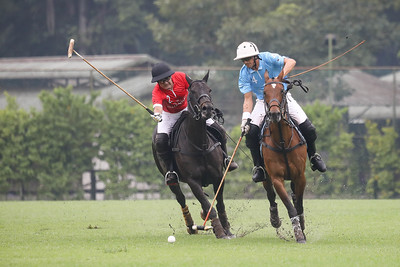 TATA COMMUNICATIONS SINGAPORE POLO OPEN 2018, Final Match between Prudential (red) vs Tata (blue), where Prudential won with a score of 2-1 after 3 chukka, taken on 20 May 2018 at Singapore Polo Club,Singapore. (Photo by : Sanketa Anand/SportSG)— atSingapore Polo Club (Official).