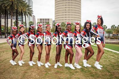 TBYFL All-Star Cheerleaders 2016