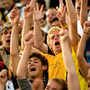 Record-Eagle/Jan-Michael Stump<br /> Traverse City Central fans cheer during Friday's game against Midland Dow.