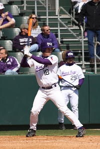 Senior Steve Ellington was the leading hitter for the Frogs in the first game of a doubleheader, a 3 to 1 lost to Mississippi. Steve went 2 for 3 in the game.