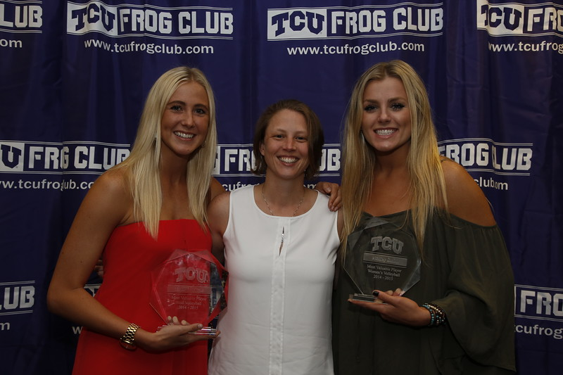TCU Athletics All Sports banquet in the Champions Club at Amon Carter Stadium on the campus of Texas Christian University in Fort Worth, Texas on April 29, 2015. (Photo by/Sharon Ellman)