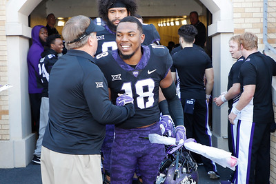TCU vs Baylor Football at Amon Carter Stadium on November 24, 2017. (Photo by Gregg Ellman)