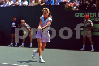Chris Evert, 1982 US Open Championships, backhand