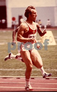 Valeriy Borzov, Russian 100/200m sprinter, running a heat during the 1976 Montreal Olympics.  He would finish 3rd in the 100m final.