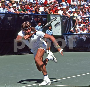 Borg rips a forehand winner vs McEnroe, US Open 1981
