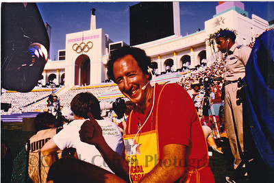"1984 Los Angeles Olympics Opening Ceremonies, LA Coliseum, at which Chuck Cohen was the Director of Photography of the official Olympics Movie ""16 Days of Glory"" directed by Bud Greenspan"
