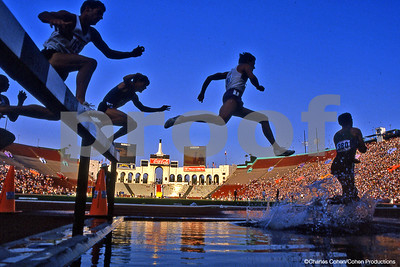 1984 USA Olympic Trials, Steeplechase Competition, Los Angeles Coliseum