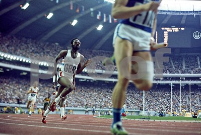 1,600 Meter Relay, 1976 Montreal Summer Olympics.  Chuck was the Director of Photography of the US Film of those Olympics Games