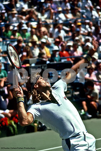 Bjorn Borg, 1981 US Open, Flushing Meadows, NY.  Borg lost to John McEnroe in the final.